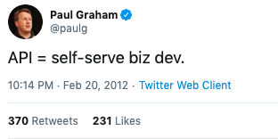 Paul Graham tweet
