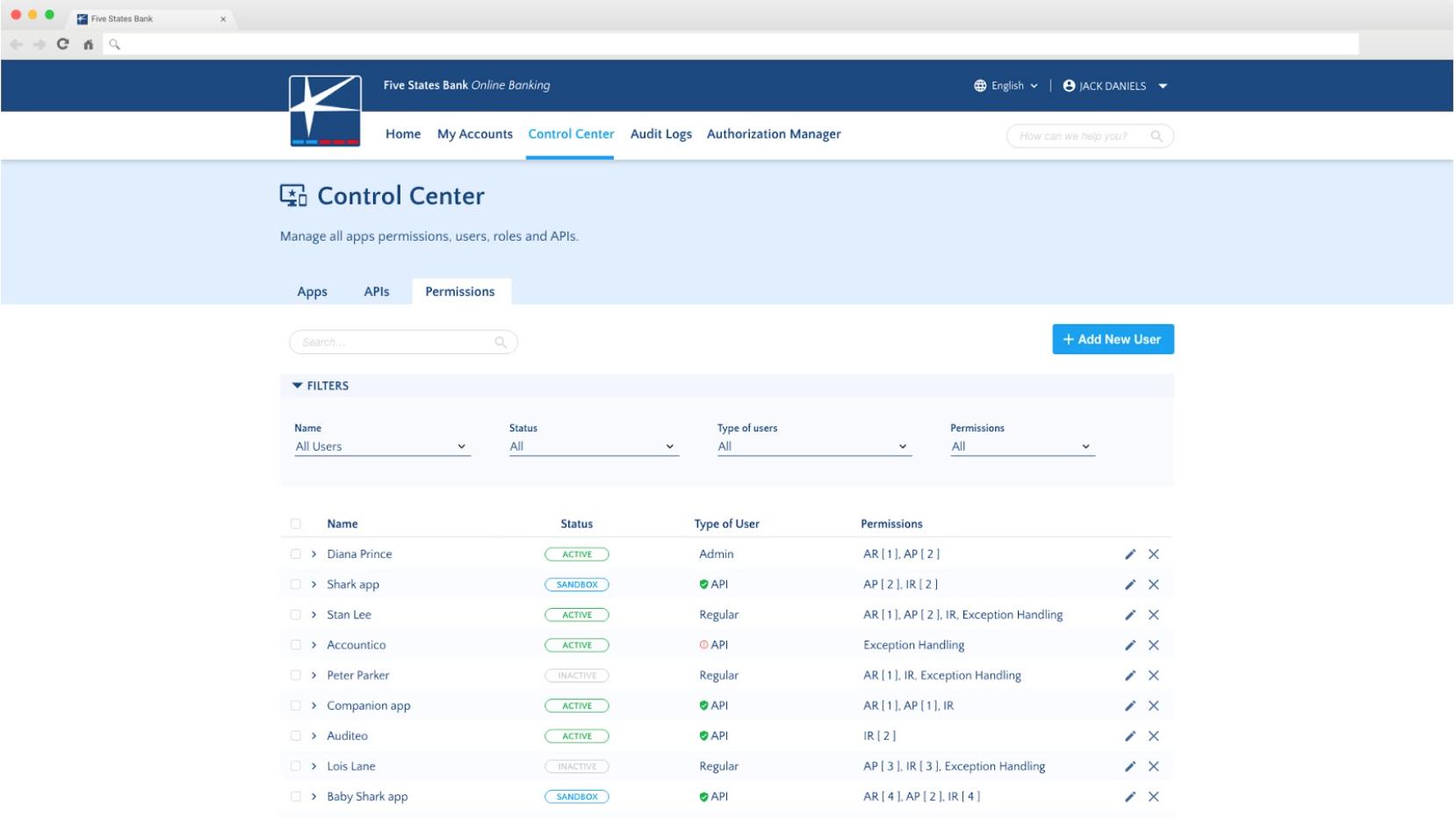 API Control Center